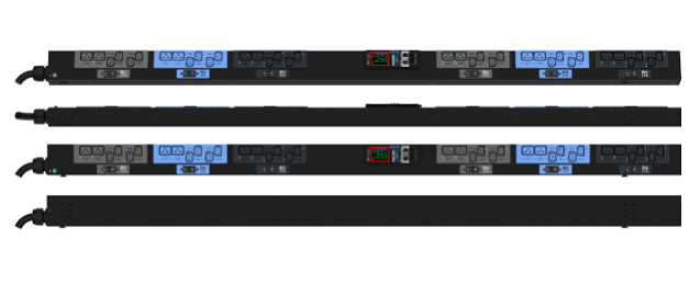 Enlogic EN2.0 Outlet Metered, Outlet Switched PDU 32A 3ph 400V 24 C13 12 C19 Outlets