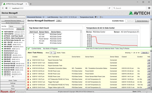 Device ManageR Monitoring and Control Software (LAN)