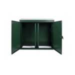 9U External Roadside Cabinet 600 Wide 450 Deep