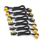 APC Power Cord Kit with 6 Locking C19 to C20 90 Degree 0.6m